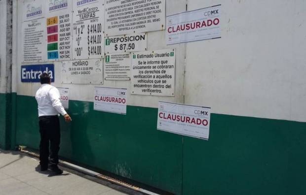 Los verificentros clausurados se ubican en las delegaciones Cuauhtémoc y Magdalena Contreras. FOTO: CORTESÍA SEDEMA