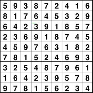 Solución sudoku difícil 4 nov