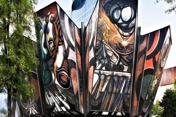 Conoce el polyforum en voz del propio siqueiros m sporm s for El mural de siqueiros pelicula