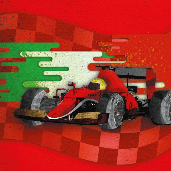 Este fin de semana se lleva a cabo el Gran Premio de México de la F1. Arte por Max Estrada