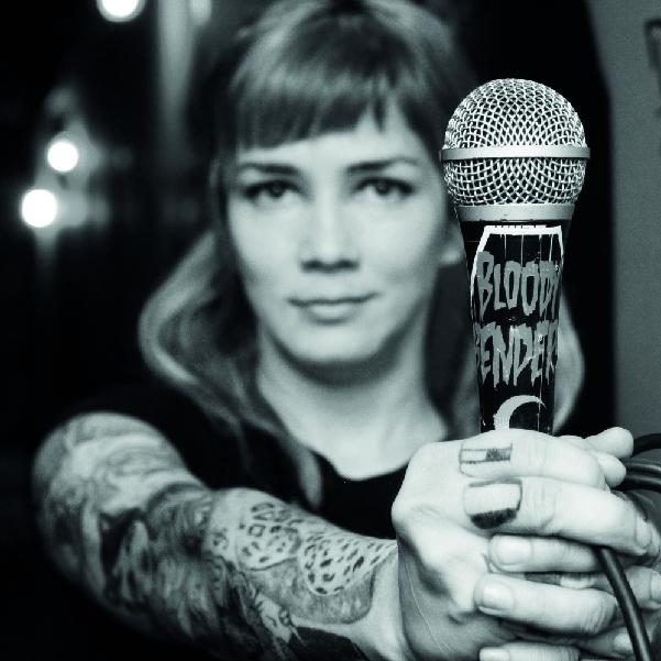 Adriana Soberón, vocalista de la banda Punk Bloody Benders