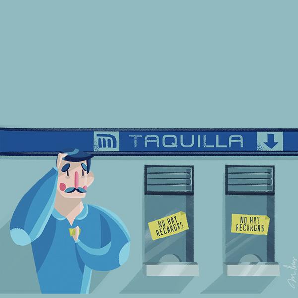 Tarjetas recargables del Metro y Transporte Público se encuentran agotadas tarjeta. Arte de Michel Laris