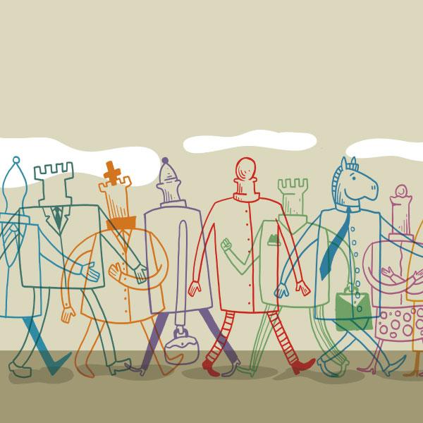Las convencias Ajedrez Metro Rápido cumplen un año. Arte: Alberto Montt