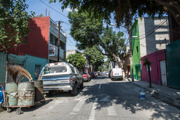 Calle 2, colonia Francisco I. Madero. /Foto Lulú Urdapilleta.