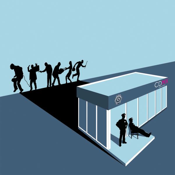 Nuevas estaciones de policía. Arte Andree Ávalos