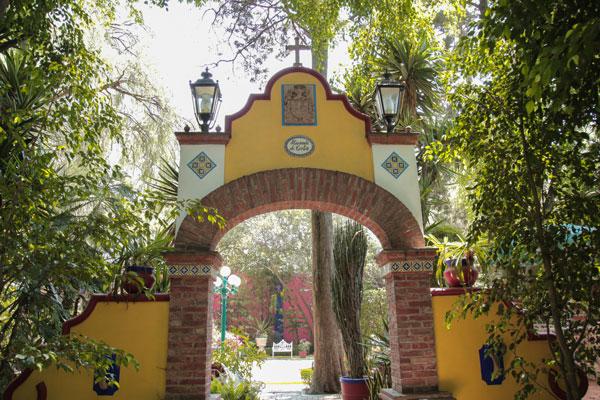 La Hacienda de Cortés se encuentra en el barrio de La Conchita, Coyoacán