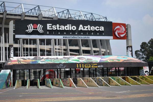 El Estadio Azteca, casa del América, está al sur de la ciudad
