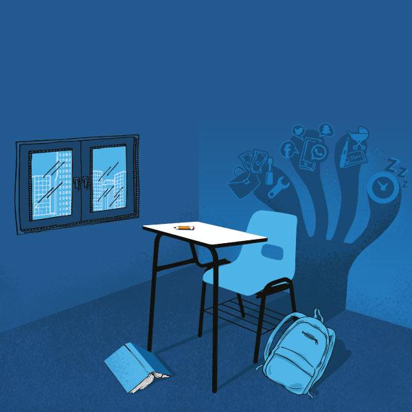 Escuela sin alumnos, algo muy familiar en secundaria
