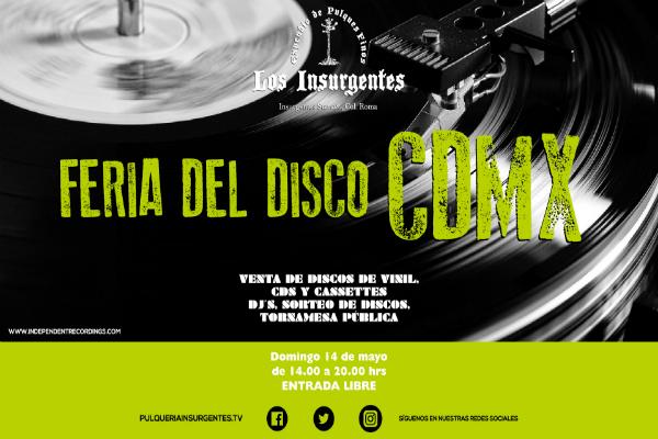 Flyer Feria del disco CDMX
