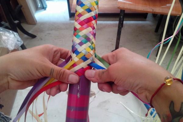 Moira y su proyecto de tejer bicicletas.