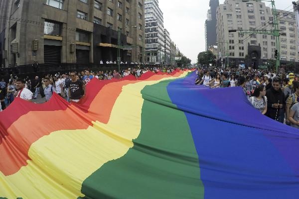 Marcha del orgullo gay 2017 en la Ciudad de México.