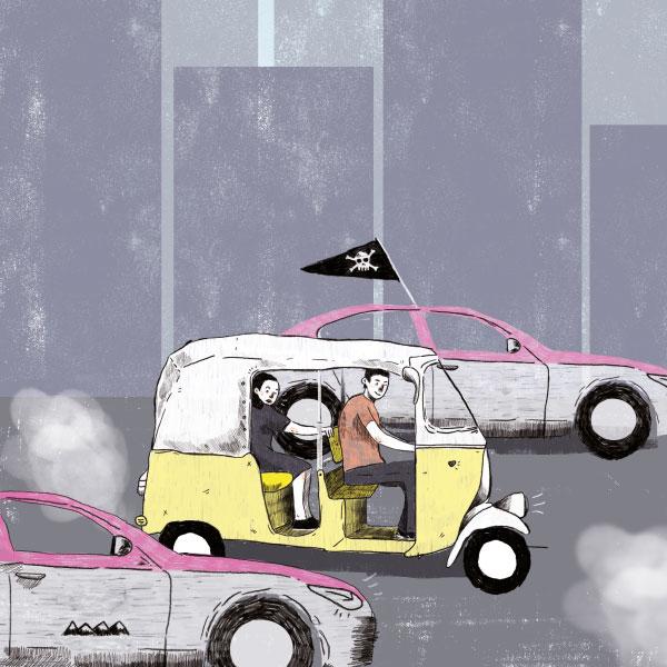 Taxis piratas a la orden