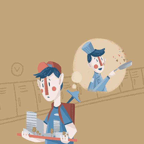 Equivocarse de profesión es algo común entre los jóvenes