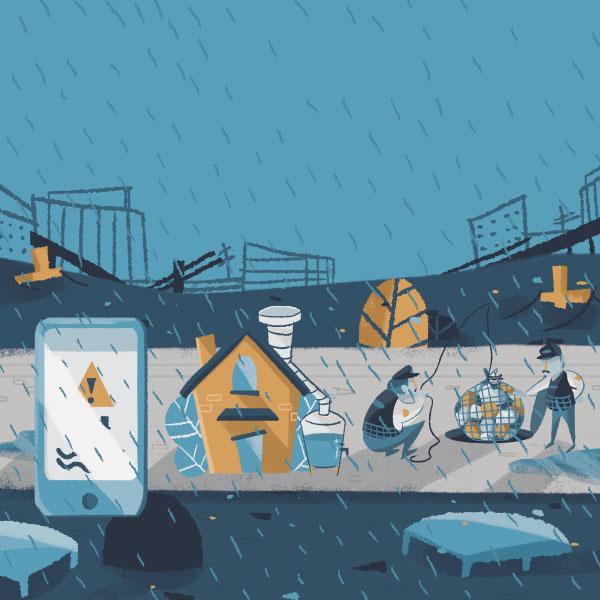 Lluvia sobre la ciudad