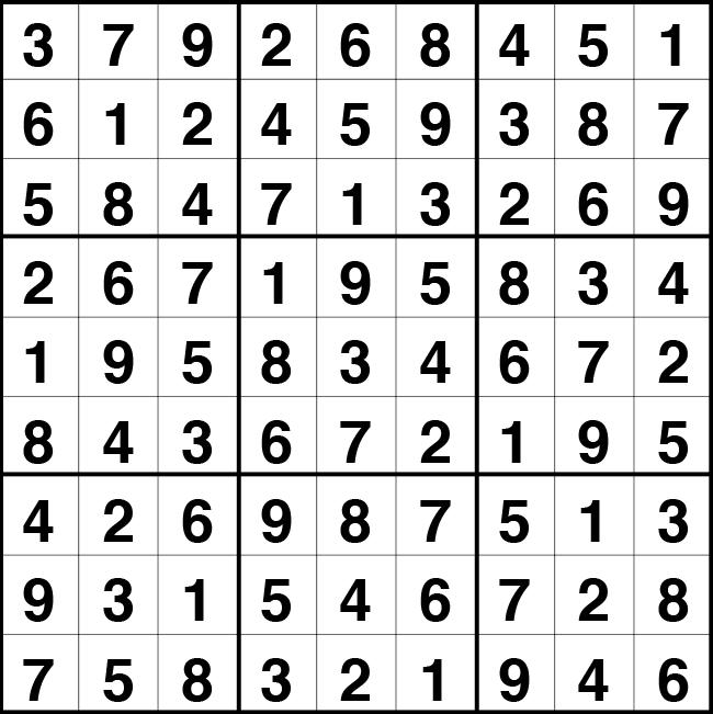 Solución sudoku: 4 septiembre 2020