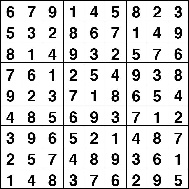 Solución sudoku: 8 septiembre 2020