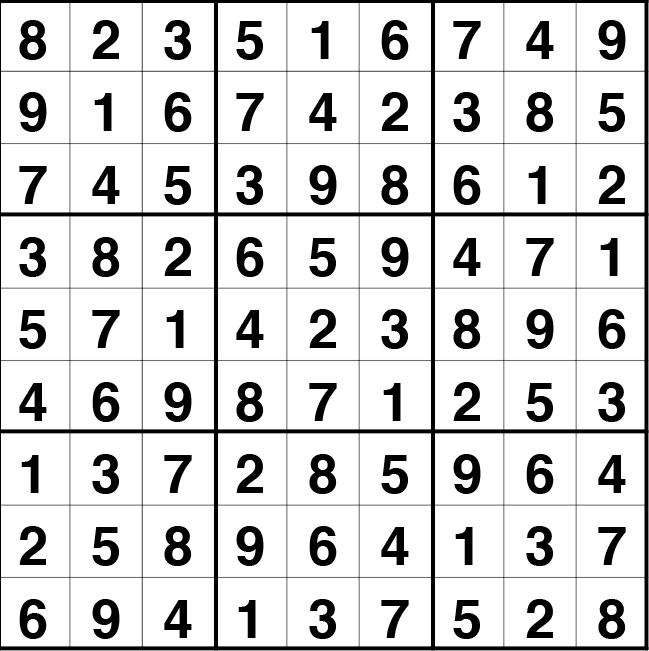 Solución sudoku: 10 septiembre 2020