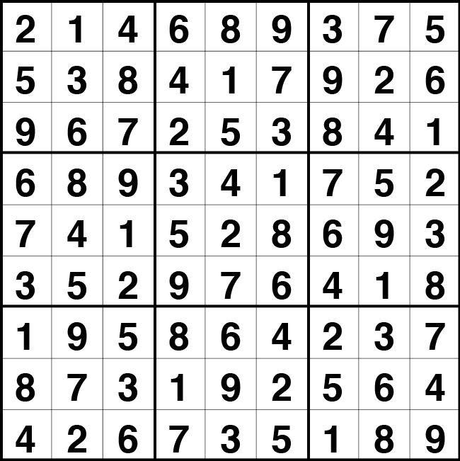 Solución sudoku: 2 septiembre 2020