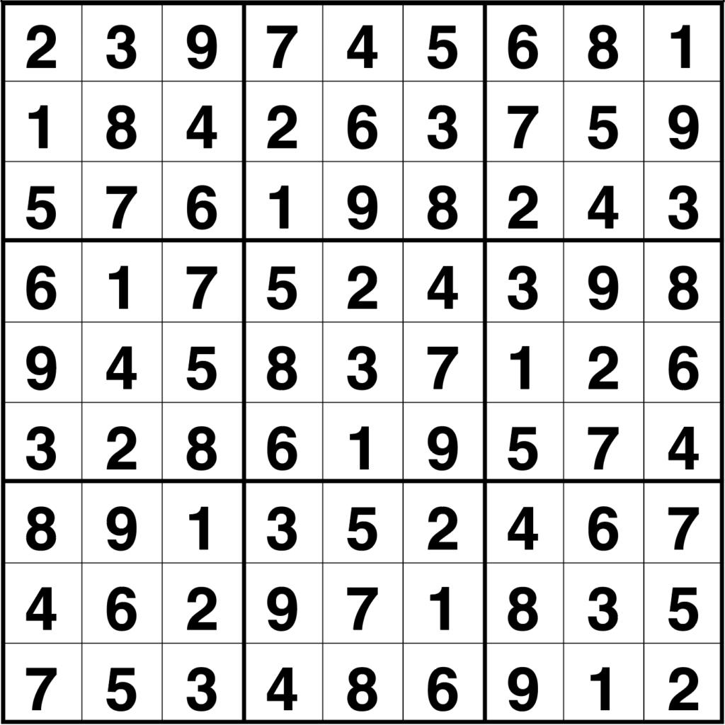 Solución sudoku: 3 septiembre 2020