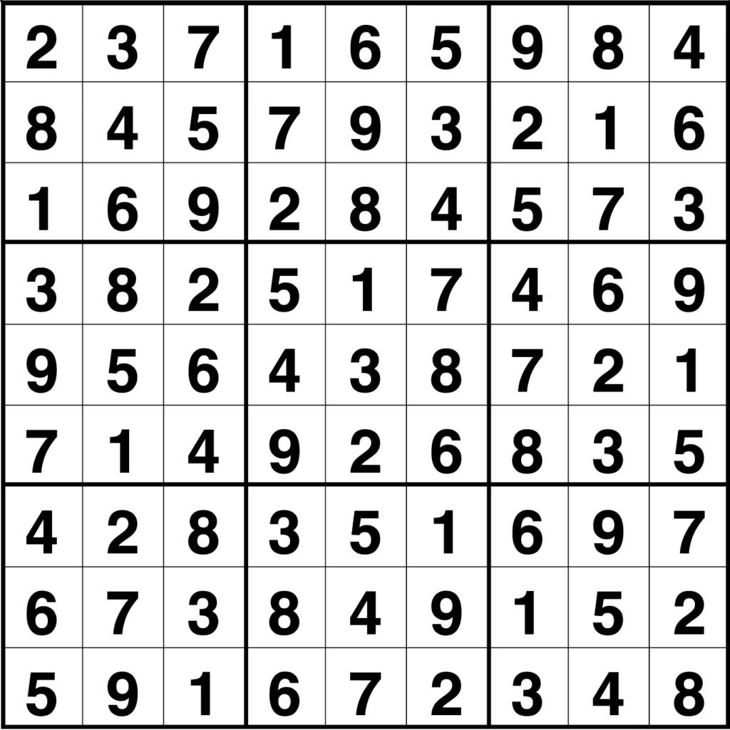 Solución sudoku: 15 septiembre 2020