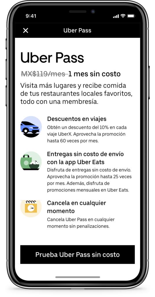 Disfruta de un sinfín de beneficios con Uber Pass