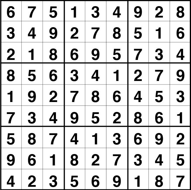 Solución sudoku: 28 abril 2021