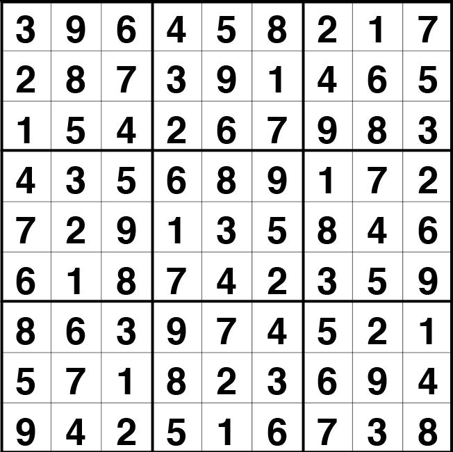 Solución sudoku: 29 abril 2021