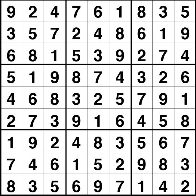 Solución sudoku: 30 abril 2021