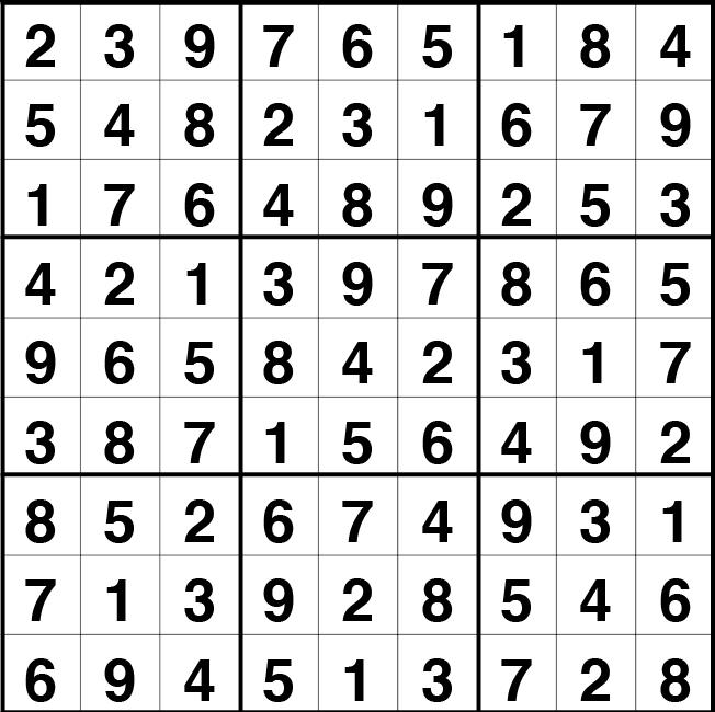 Solución sudoku: 4 mayo 2021