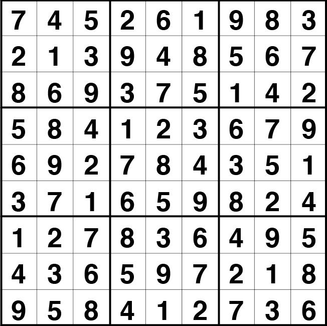 Solución sudoku: 12 mayo 2021