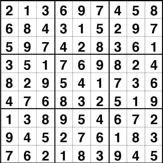 Solución sudoku: 13 mayo 2021
