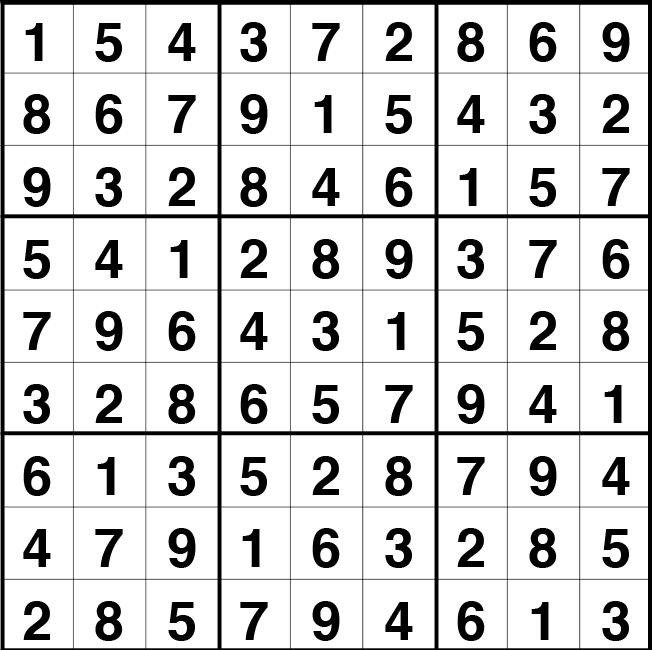 Solución sudoku: 3 mayo 2021
